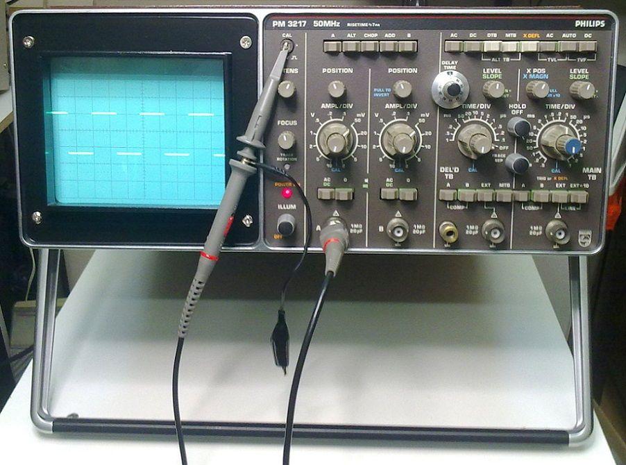 Oscilloscope pm 3217 philips ann e 1986 for Appareil de restauration
